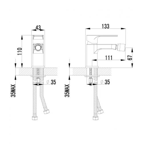 Однорычажный смеситель Lemark Plus Grace LM1508C 6690702 1