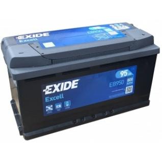 Автомобильный аккумулятор EXIDE EXIDE Excell EB950 (95R) 800А обратная полярность 95 А/ч (353x175x190)-5789044