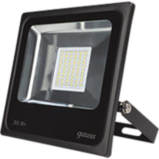 Gauss Прожектор светодиодный Gauss LED 30W IP65 6500К черный 1/10