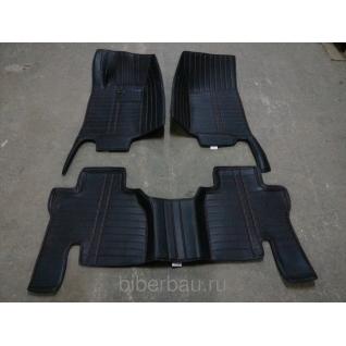 Кожаные автоковрики SsangYong Actyon чёрный 2010-2015-907151