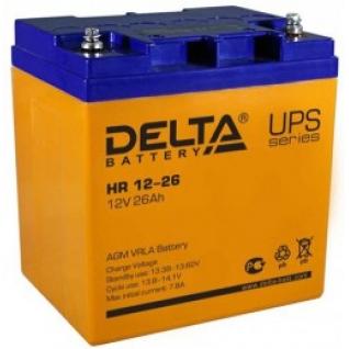 Аккумулятор для ИБП DELTA Delta HR 12-26 А универсальная полярность 26 А/ч (165x125x175)-6036004
