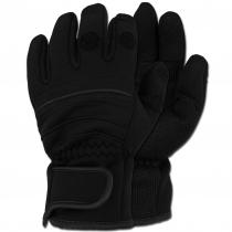MFH Перчатки MFH с откидными пальцами, неопрен, цвет черный