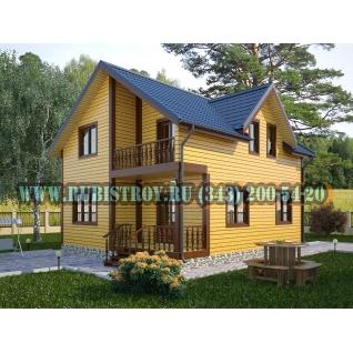 Дачный дом по проекту СТТ-51из обрезного бруса сечением 150 х 150 мм., площадь 142,0 кв.м., размер 8,5 х 9,5 м.-465197