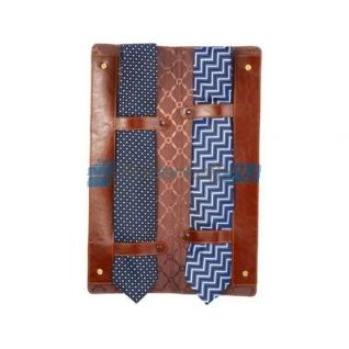 Чехол для галстуков Alessandro Venanzi, коричневый на кнопках-762637