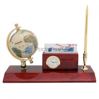 """Прибор настольный """"Конгресс"""" (часы, ручка)-5865109"""