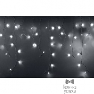 Neon-night Гирлянда Айсикл (бахрома) светодиодный, 4,8 х 0,6 м, белый провод, 220В, диоды белые 255-137-6