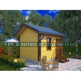 Дачный дом по проекту СТТ-37из обрезного бруса сечением 150 х 150 мм., площадь 13,0 кв.м., размер 3,0 х 5,0 м.-465210