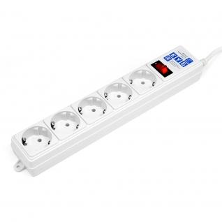 Фильтр-удлинитель Power Cube B 1,9 м 5 розеток (белый) 10А/2,2кВт-6439760