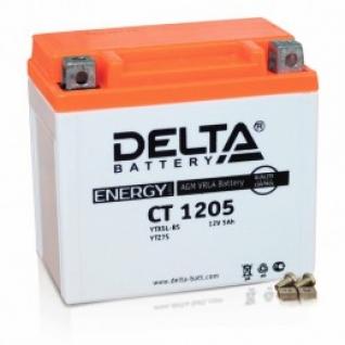 Аккумулятор для мототехники DELTA DELTA CT 1205 65А обратная полярность 5 А/ч (114x69x109)-5789160