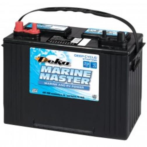 Аккумулятор лодочный DEKA DEKA MARINE DC27 DT (стартерный глубокого разряда) 575А прямая полярность 105 А/ч (300x171x236)-6000443