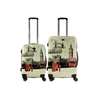 Alezar Комплект пластиковых чемоданов 2в1 Alezar - London (M+S)