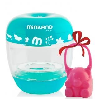 Стерилизатор Miniland Переносной стерилизатор Miniland On The Go + розовый контейнер для сосок-1962665