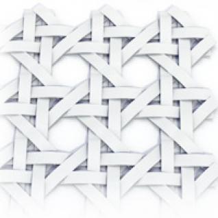 Декоративный экран Квартэк 600*900 мм ротанг (белый)-6769287