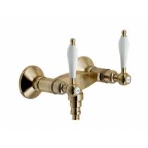 Смеситель Nobili Antica AT31003/1BR двухвентильный бронза для ванны Nobili