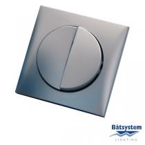 Batsystem Выключатель двухклавишный Batsystem Berker BE5850-2MS 60 x 60 мм серебристый