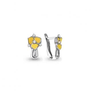 Серьги из серебра с фианитом АКВАМАРИН 45557А
