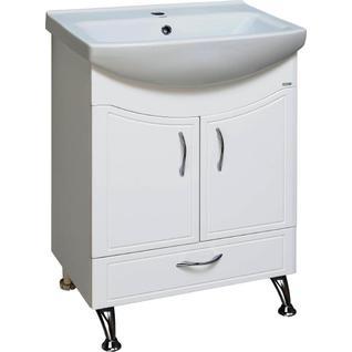 Тумба для ванной Runo Севилья 60 без Раковины (Cersania 60) Белая