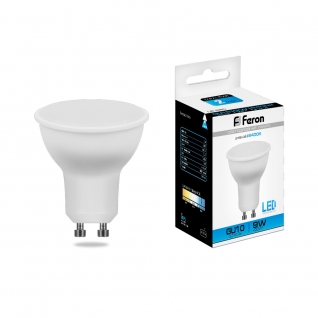 Светодиодная лампа Feron LB-560 (9W) 230V GU10 6400K MR16-8164333