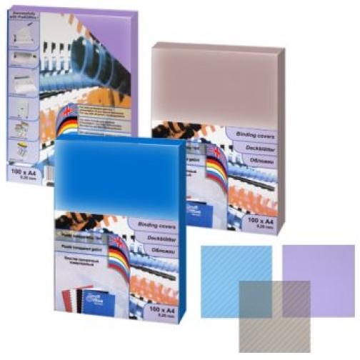 Обложка тонированная А4, синий, 0.20 мм-399111