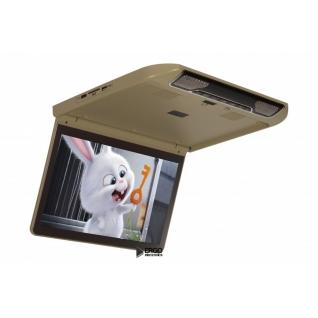 """Автомобильный потолочный монитор 13.3"""" со встроенным Full HD медиаплеером ERGO ER13S (бежевый) Ergo-8945656"""