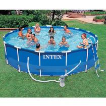 Каркасный бассейн Intex Metal Frame 457x107 см + 5 аксессуаров (28234)