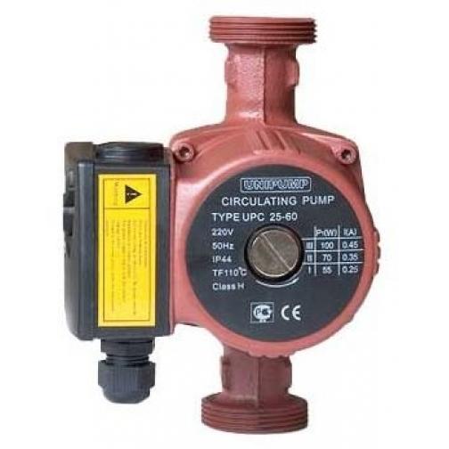 UNIPUMP UPC 25-60 180 (8) Насос циркуляционный отопления с накидными гайками UNIPUMP 100955
