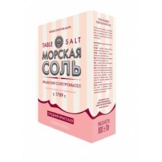 Крымская розовая соль. Мелкий, средний помол. 800 гр. картонная пачка-5537553