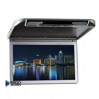 """Автомобильный потолочный монитор 13.3"""" со встроенным Full HD медиаплеером ERGO ER13S (серый) Ergo-833428"""