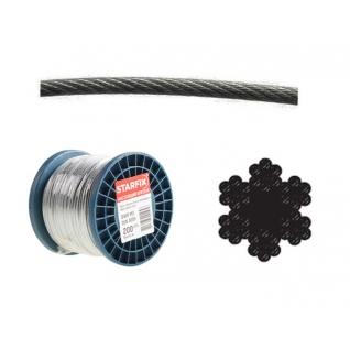 Трос стальной в ПВХ SWR M8 PVC M10 DIN 3055 (бухта/100м) (STARFIX) STARFIX-6005251