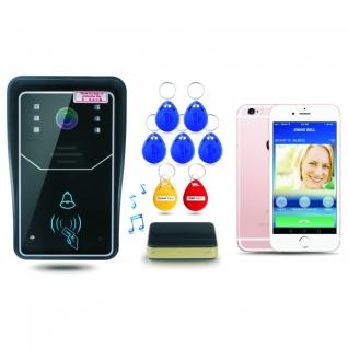 Комплект WiFi видеодомофона для квартиры, частного дома с дверным звонком и контролем доступа PST-WIFI Touch-5006079