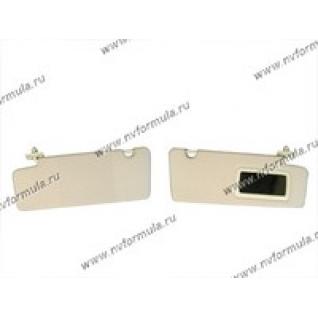 Козырьки солнцезащитные 2170 Priora жесткие с зеркалом-420261
