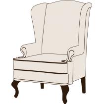 Английское кресло с ушами HoReCa - КОНФИГУРАТОР