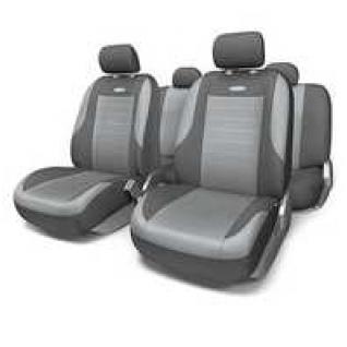 VW Polo sedan 2010- / Фольксваген Поло седан 2010- Чехлы на сиденья автомобиля универсальные AUTOPROFI Evolution (темно-серые/светло-серые)-415108