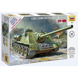"""Сборная модель """"Советский истребитель танков СУ-100"""", 1:72 Звезда-37733270"""