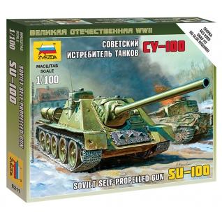 """Сборная модель """"Советский истребитель танков СУ-100"""", 1:100 Звезда-37733132"""