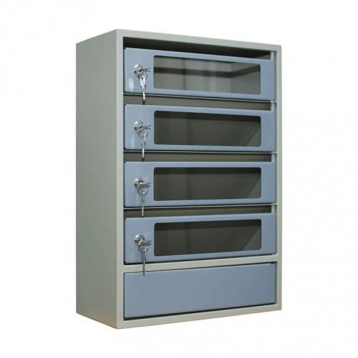 Шкаф антивандальный почтовый со стеклянными дверцами ШАП (с) 4 секции-465734