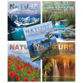 Бизнес-тетрадь A4,96л,кл,обл.мелов.карт.спир Живая природа в асс ТО96А49446