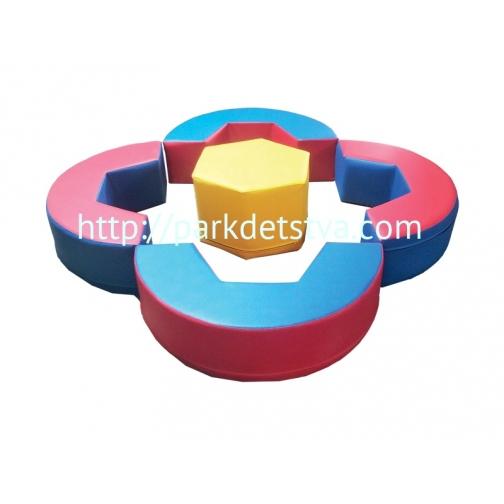 Мягкая набивная мебель Игровой набор Замыкая круг-6830518