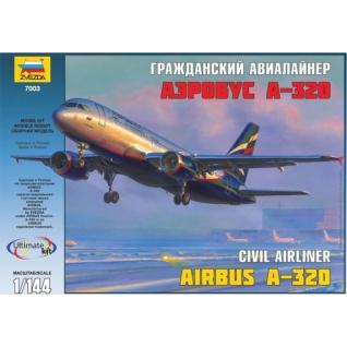 """Сборная модель """"Пассажирский авиалайнер Аэробус А-320"""", 1:144 Звезда-37733184"""