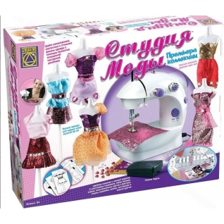 Creative Студия моды: детская швейная машинка с педалью и набор все для шитья