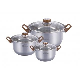Набор посуды из нержавеющей стали Mercury, 6 предметов-37774672
