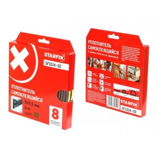 """Уплотнитель """"P"""" коричневый 9х5,5мм 6м STARFIX (SF1014-02) STARFIX-6004893"""
