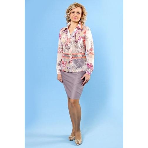 Шифоновая блуза дл. рукав 50 размер-6672341