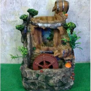 Декоративный фонтан | Настольный для дома | Бочка с водопадом 28-5254954
