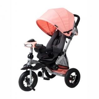 Трехколесный велосипед-коляска Stroller Trike Air (свет, звук), персиковый Moby Kids-37714815