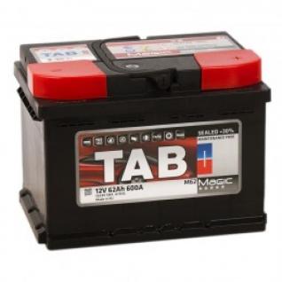 Автомобильный аккумулятор TAB TAB MAGIC 62R (низкий) 600А обратная полярность 62 А/ч (242x175x175)