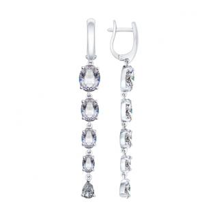 Серебряные серьги с фианитом SOKOLOV 94022079