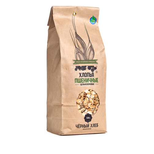 Хлопья пшеничные цельнозерновые БИО, пакет 0.5 кг-5608720