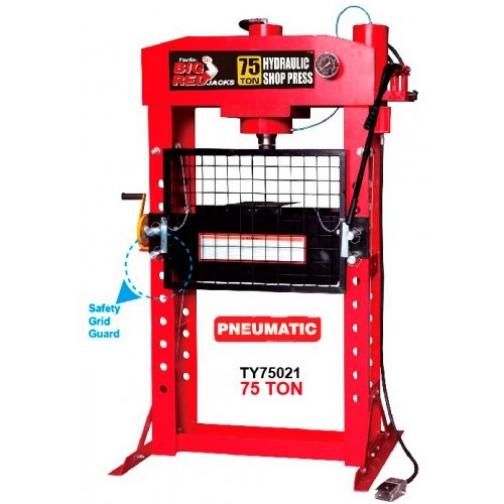 Пресс пневмогидравлический профессиональный с защитной решеткой 75т Big Red-6004250