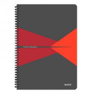 Бизнес-тетрадь Office,А4,обложка полипропилен,клетка, красный 44950025